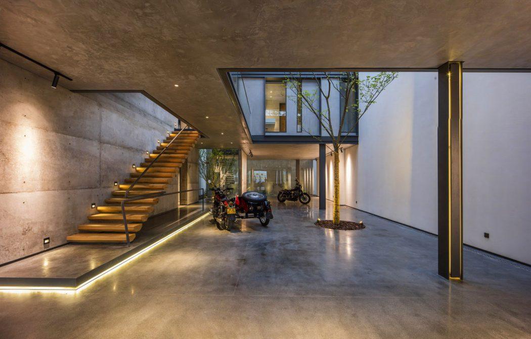 Архитектурный бетон в интерьере пентхауса