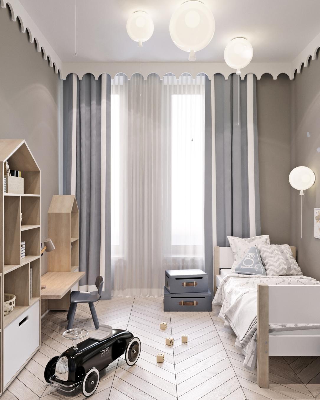 Дизайн интерьера детской спальни современных апартаментов