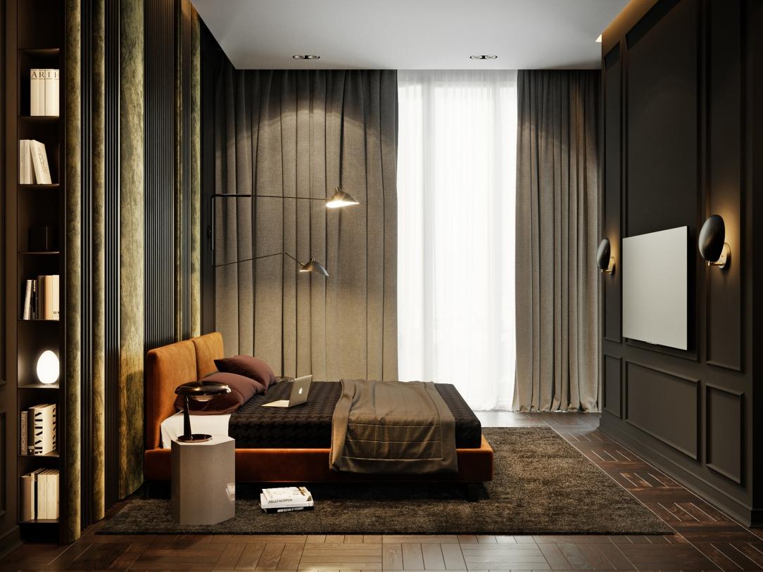 Дизайн интерьера современных апартаментов в башне ОКО