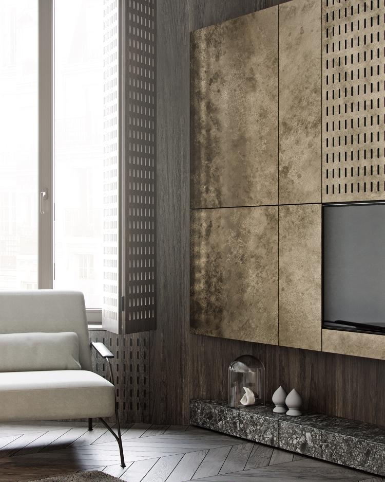 Дизайн интерьера гостиной современных апартаментов 3