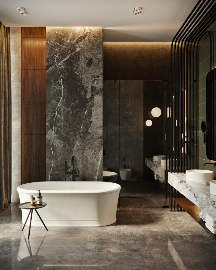 Дизайн интерьера современных апартаментов в башне ОКО 17