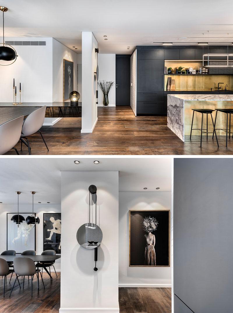 Дизайн интерьера входной зоны современных апартаментов