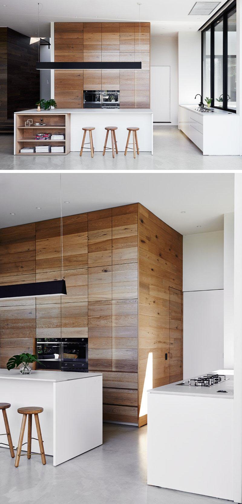 Полированный бетонный пол в современном интерьере кухни-столовой 4