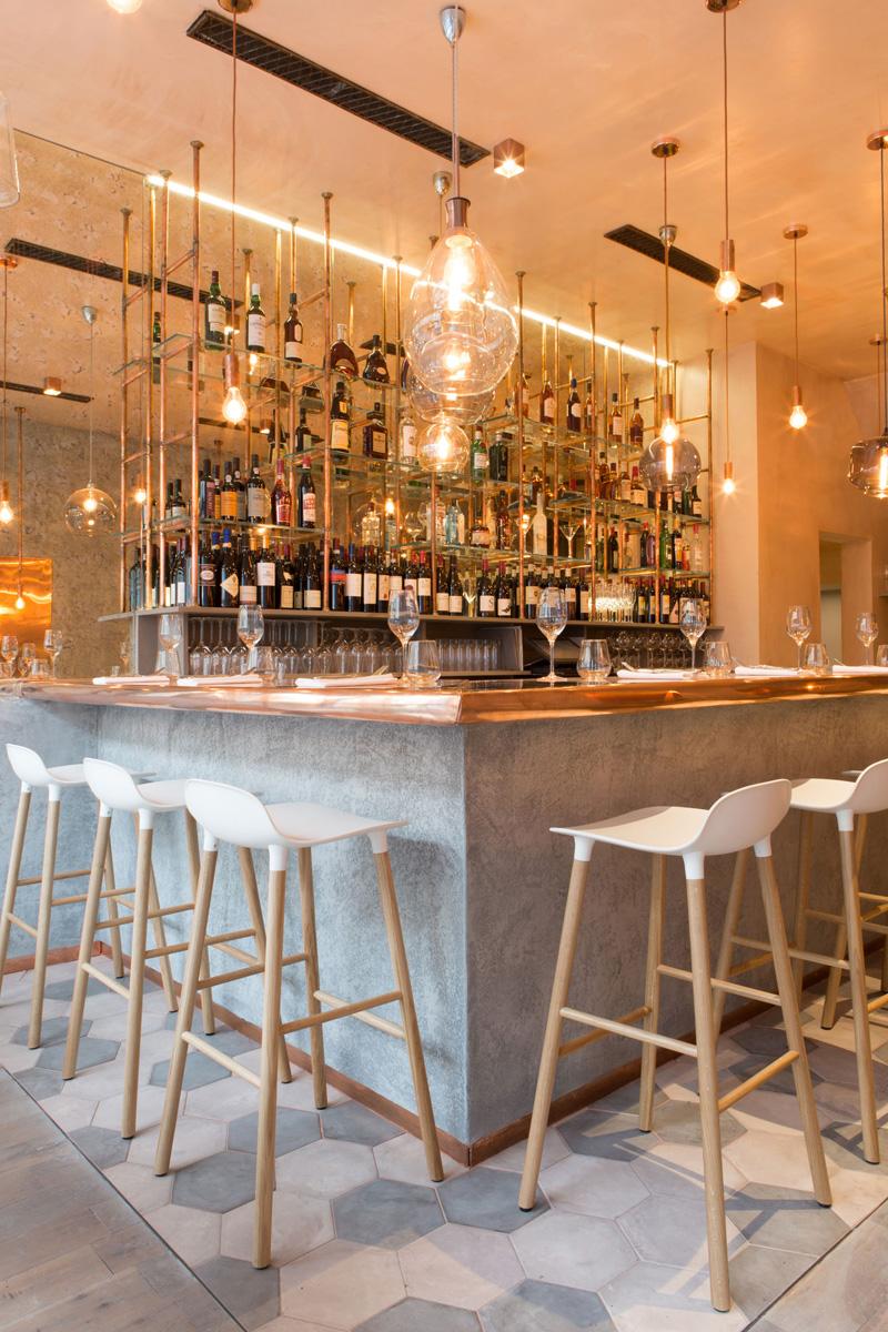 Современный дизайн интерьера ресторана Bandol в Лондоне 6