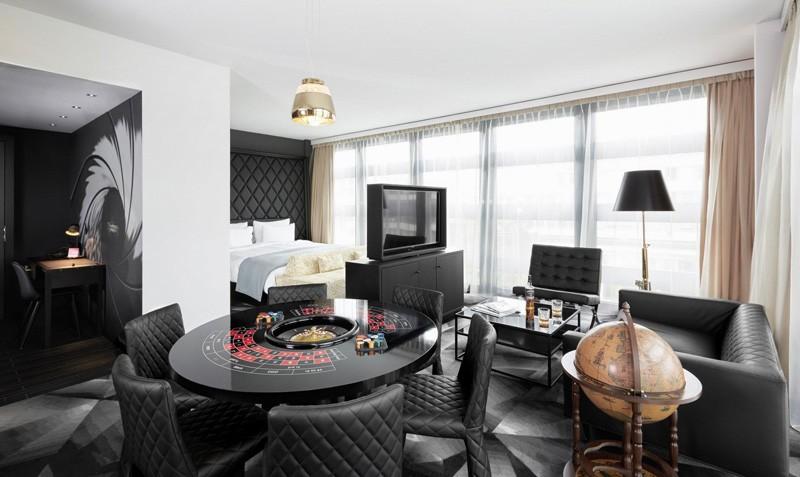 Современный дизайн интерьера отеля Kameha Grand Zurich 18