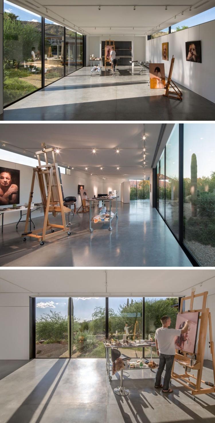 Интерьер современной художественной студии