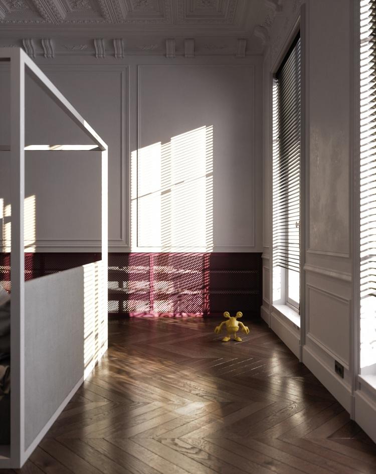 Современный дизайн интерьера апартаментов в Париже 12