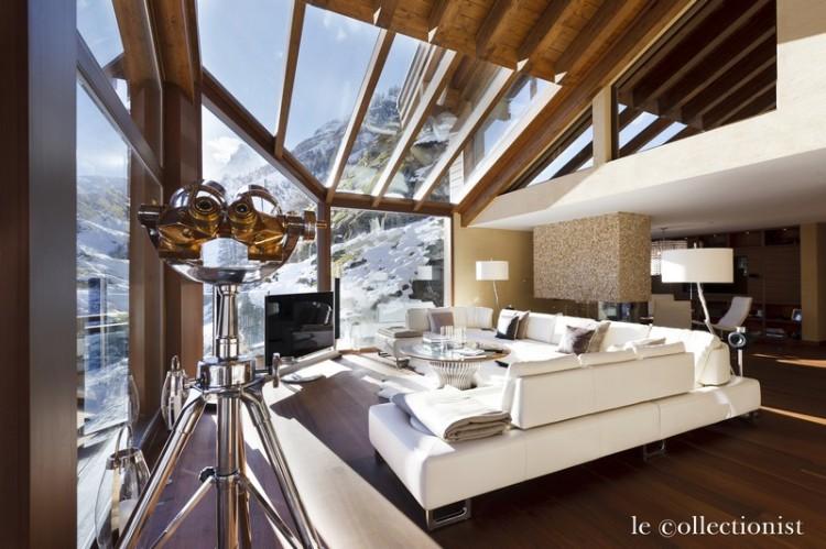 Современный дизайн интерьера лыжного шале 4