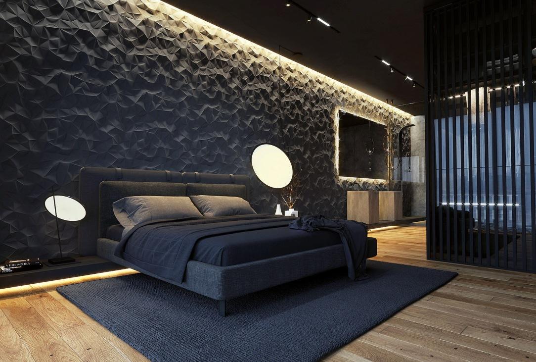 Современный дизайн интерьера главной спальни квартиры
