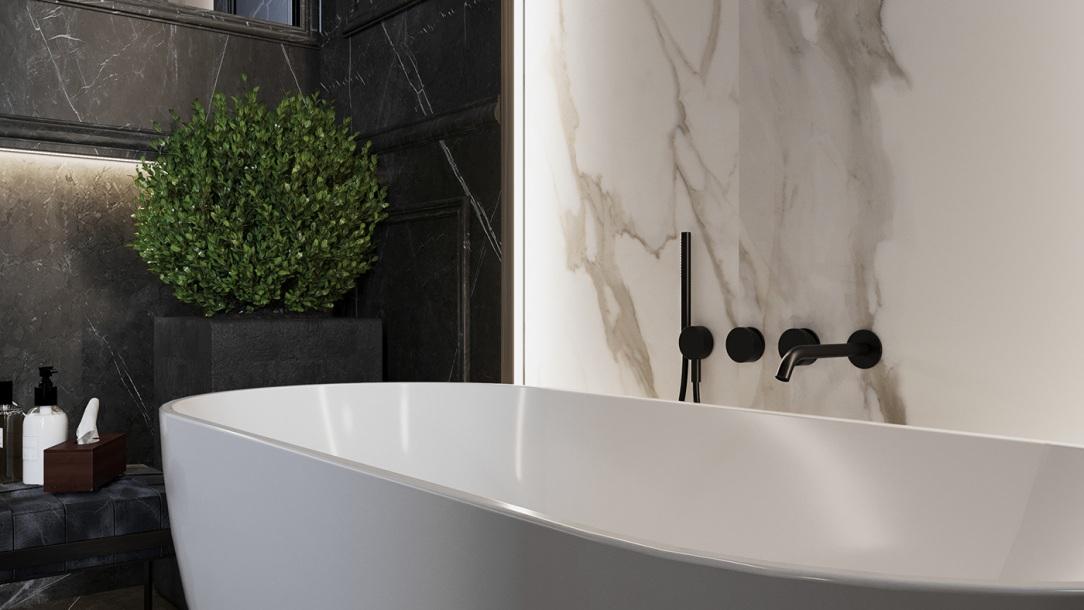 Дизайн интерьера ванной комнаты квартиры в современном стиле 8
