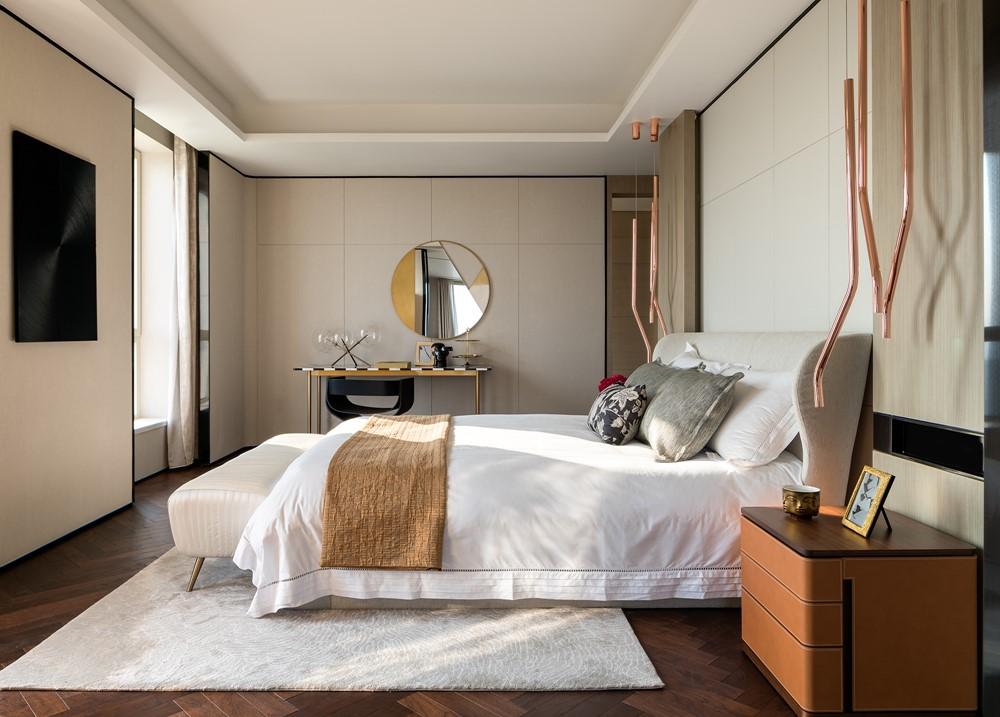 Современный дизайн интерьера второй гостевой спальни пентхауса 3