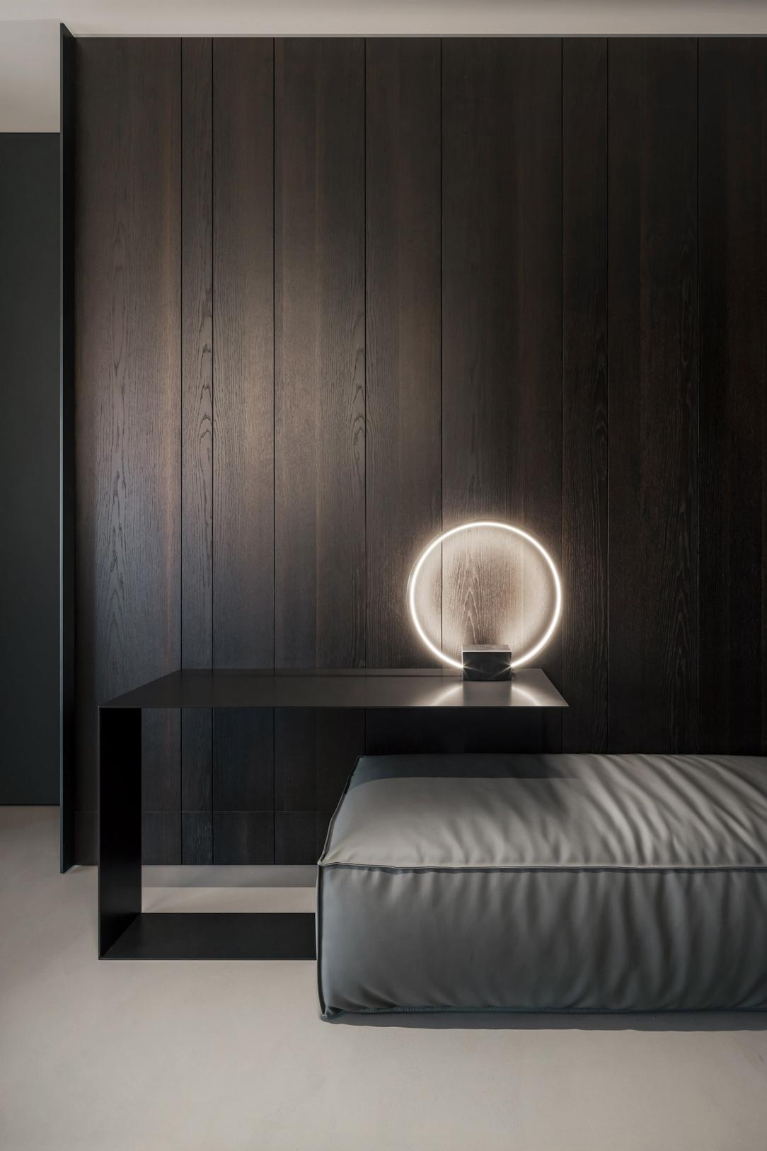 Современный дизайн интерьера спальни апартаментов
