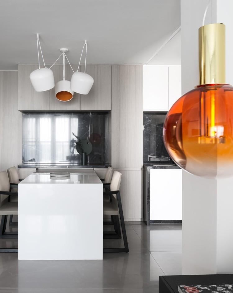 Современный дизайн интерьера кухни в минималистском стиле 5