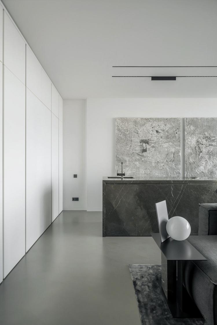 Современный дизайн интерьера кухни апартаментов 2