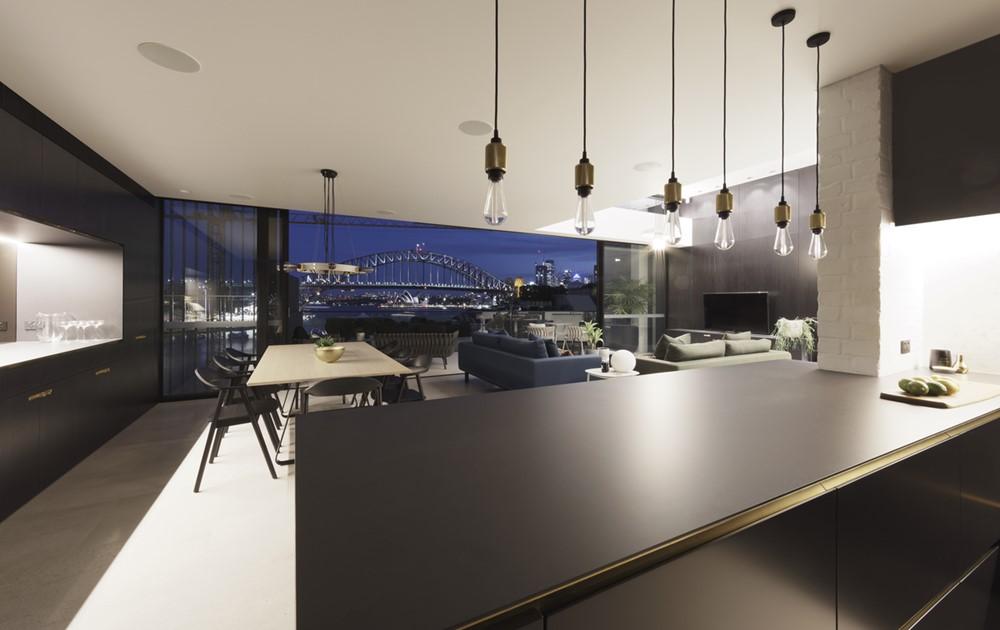 Дизайн интерьера двойного дома в современном стиле