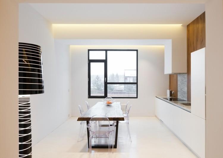 Современный дизайн интерьера кухни загородного дома 2