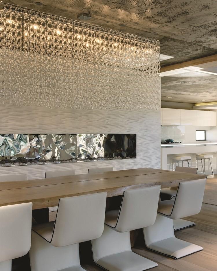 Современный дизайн интерьера гостиной загородного дома 3