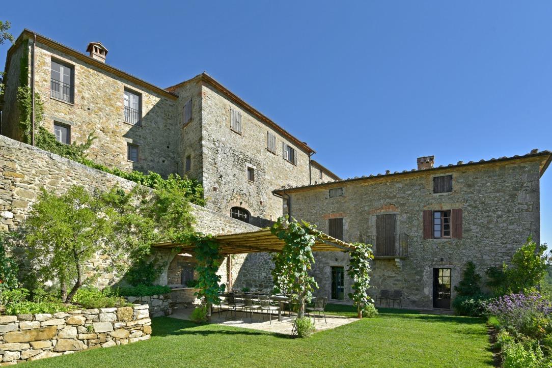 Дизайн интерьера отеля Monteverdi в Тоскане