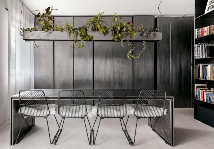 Современный дизайн интерьера небольшой квартиры в промышленном стиле 2