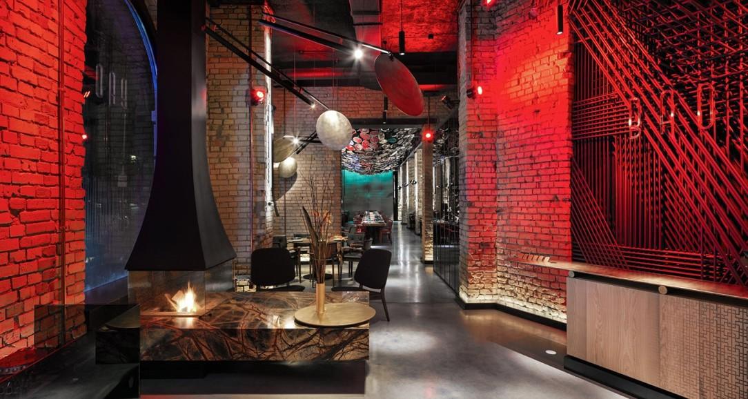 Современный дизайн интерьера ресторана BAO в Киеве 7