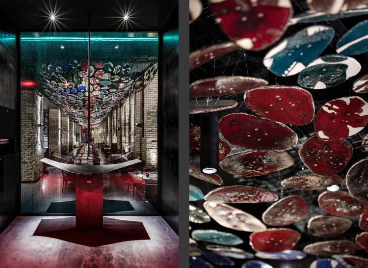 Современный дизайн интерьера ресторана BAO в Киеве 14