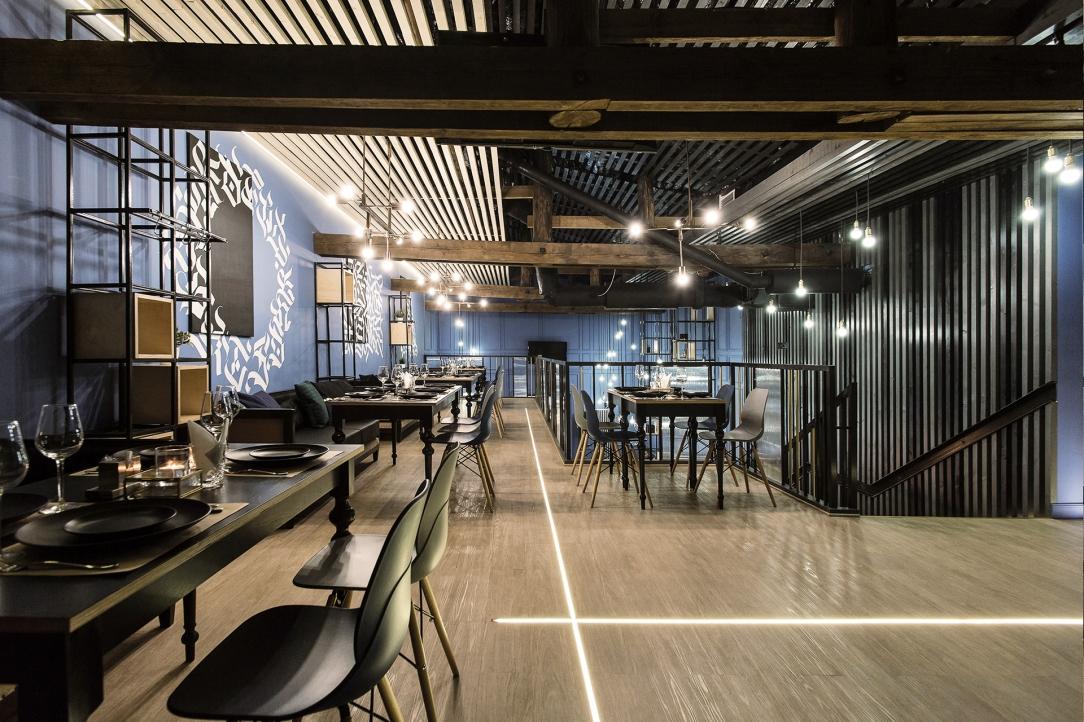 Современный дизайн интерьера лаундж-бара