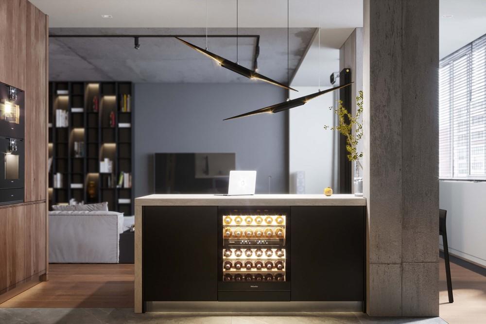 Современный дизайн интерьера кухни-столовой квартиры Alexandr 3 от Geometrium 3