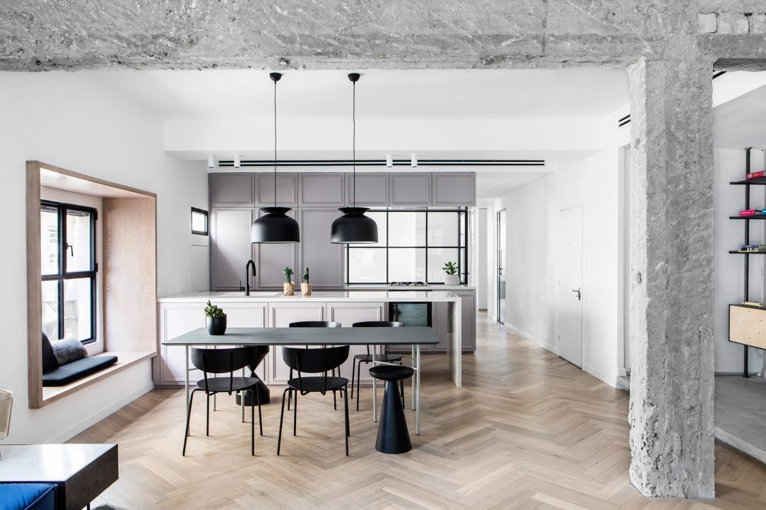 Современный дизайн интерьера гостиной квартиры в минималистском стиле 3