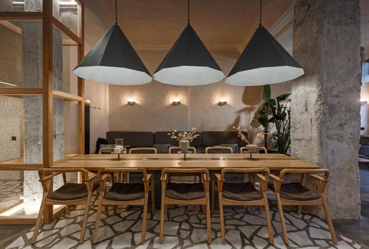 Современный дизайн интерьера кофейни CULTURIST в промышленном стиле 2