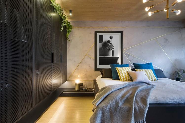 Современный дизайн интерьера гостевой спальни апартаментов в Барселоне