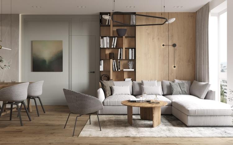 Современный дизайн интерьера квартиры в стиле фьюжн