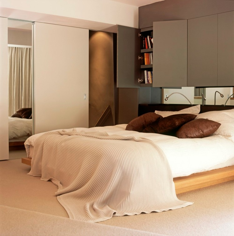 Современный дизайн интерьера спальни квартиры в минималистичном стиле