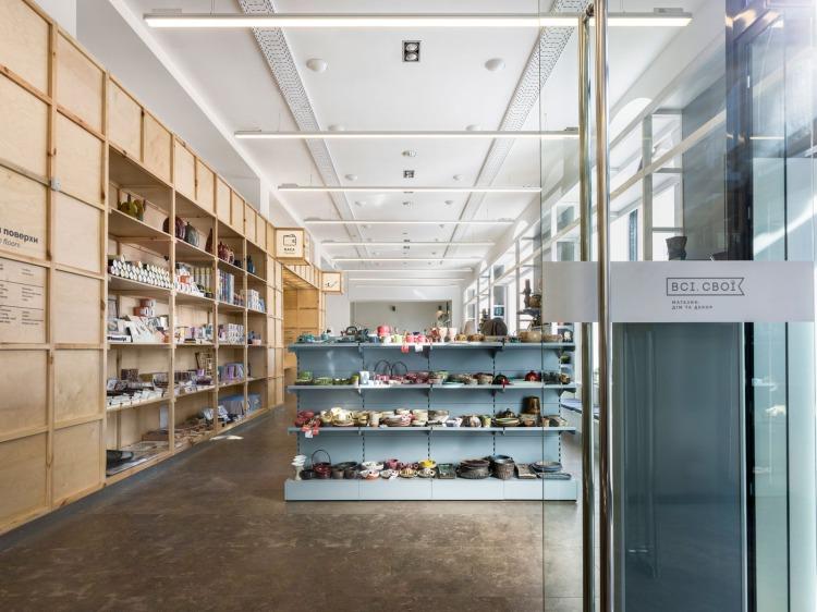 Современный дизайн интерьера магазина в минималистском стиле 7