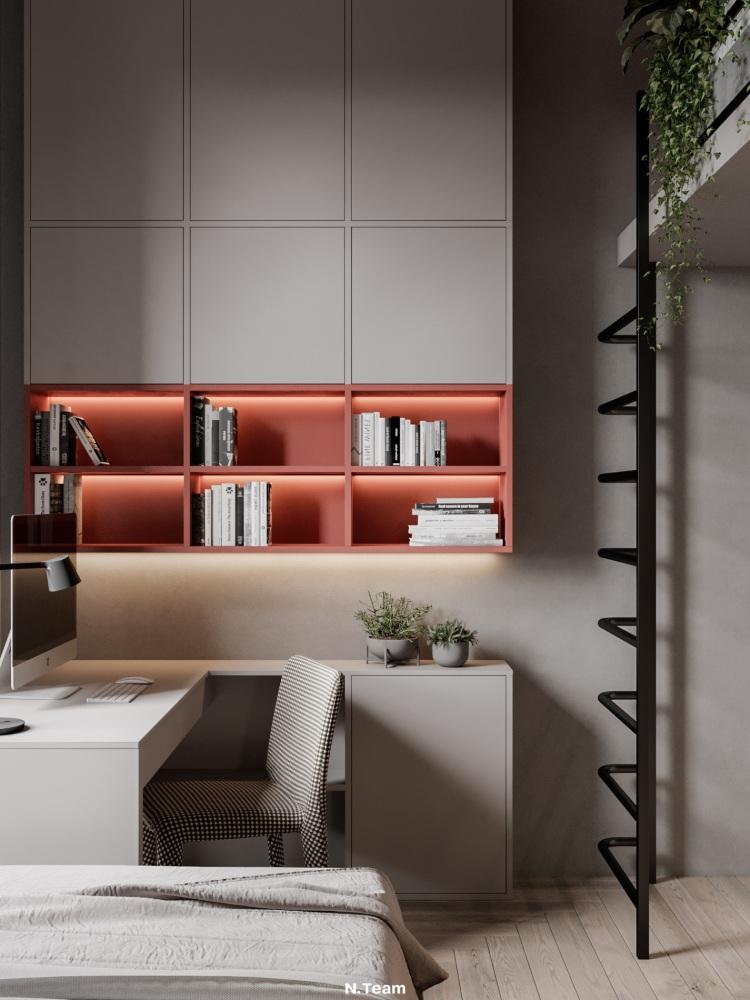 Современный дизайн интерьера детской спальни квартиры в Милане 2