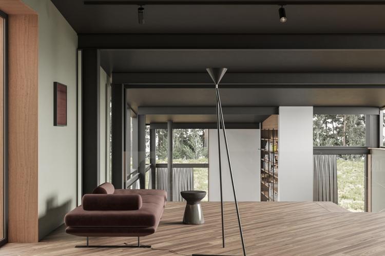 Современный дизайн интерьера холла дома в современном стиле