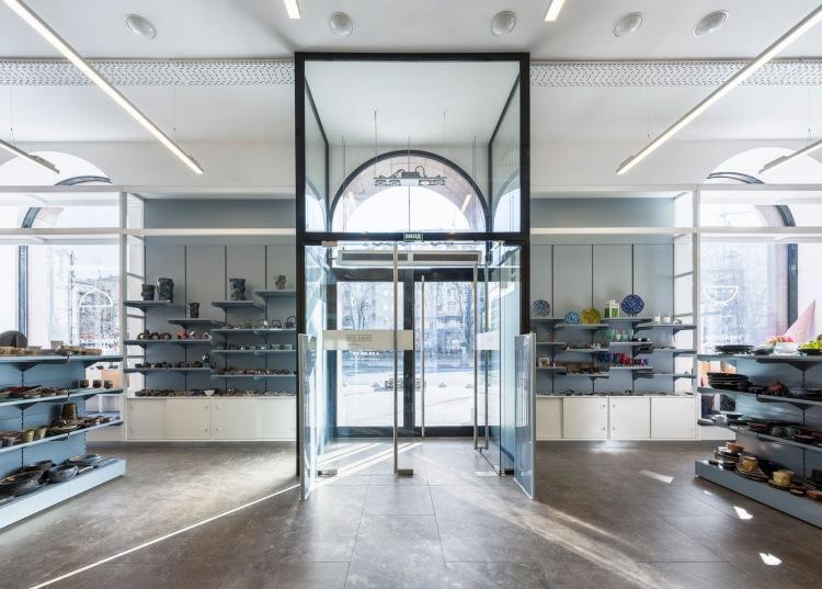 Современный дизайн интерьера магазина в минималистском стиле 8