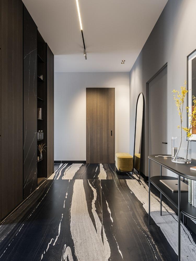Современный дизайн интерьера квартиры в стиле минимализм 6